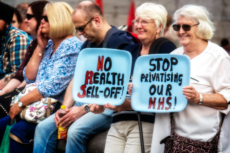 Image of NHS protest